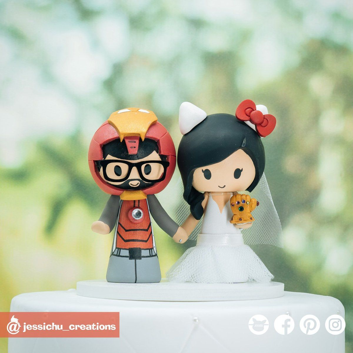 Pin on Marvel Superhero Inspired Wedding Cake Toppers by ...