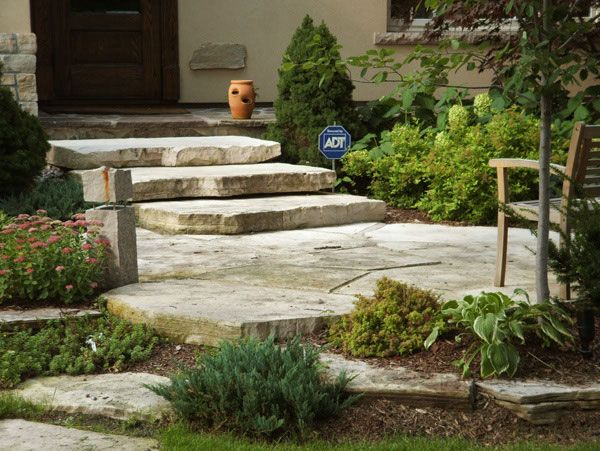 Large, Flat Stones Give A Nice, Natural Effect And Can Be Used For A Patio  And Steps. Love The Look!