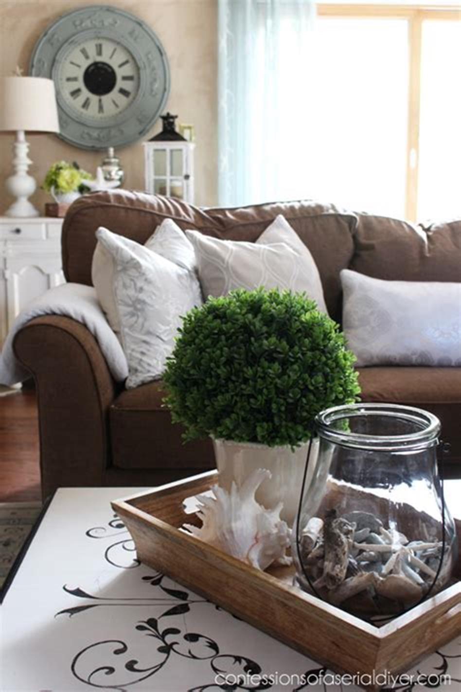 46 Awesome Coffee Table Tray Decor Ideas images