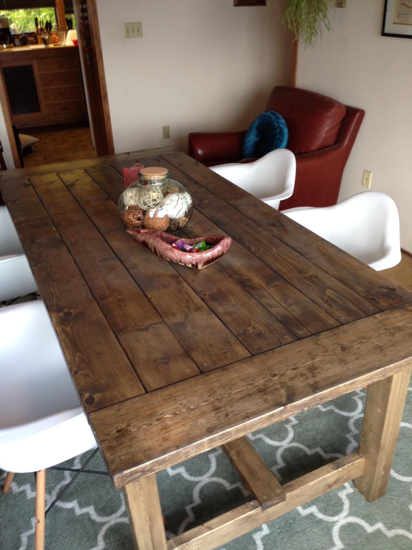 Main Table de ferme avec croix prend en charge   Etsy   Farmhouse ...