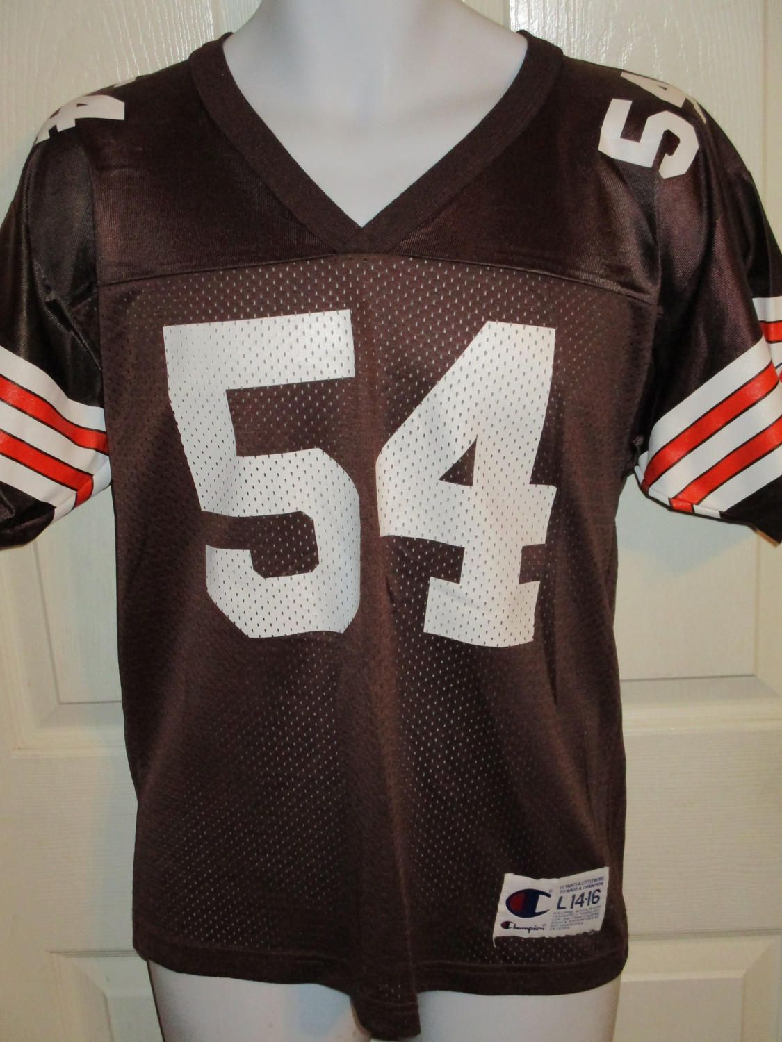 more photos 06ab6 bdbd3 1990's Champion CLEVELAND BROWNS #54 Chris Spielman Football ...