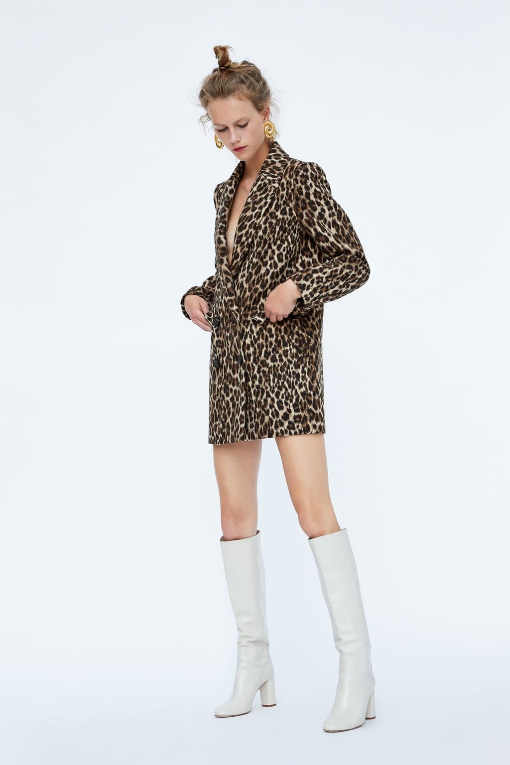 59ef065683e8 Leopard print jacquard coat   style   Zara fashion, Fashion, Leopard ...