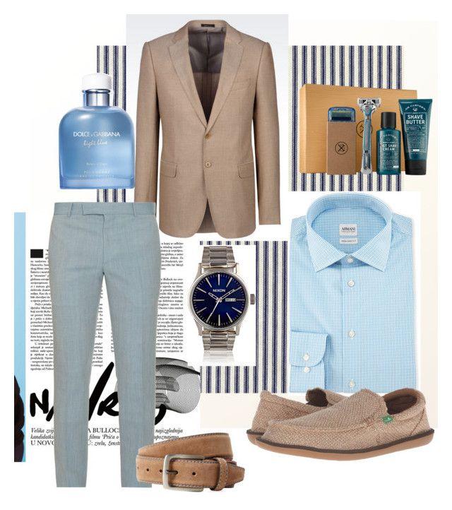"""Untitled #321"" by liiiilylove ❤ liked on Polyvore featuring Armani Collezioni, Alexander McQueen, Nixon, sanuk, Dolce&Gabbana, Bergè, men's fashion and menswear"