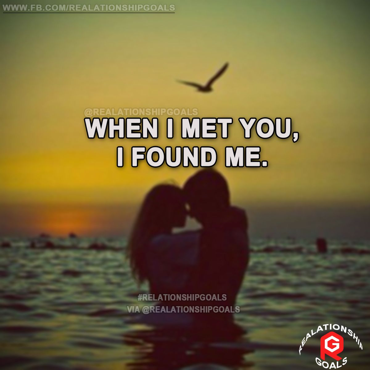 When i met you, I found me. #relation #relationshipgoals #relationship #lovequotes #love #heart #lovely #relationshipquotes