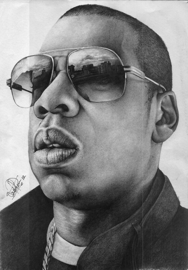 Loukman ali born in uganda artist my pencil drawing of shawn corey carter aka jay z one of the best rappers ever i used 6b and a 4b graphite
