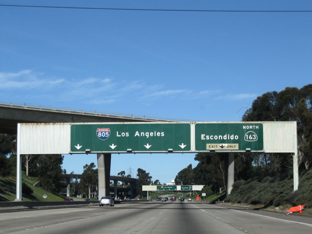 Interstate 805 north exits 13b to 29 aaroads