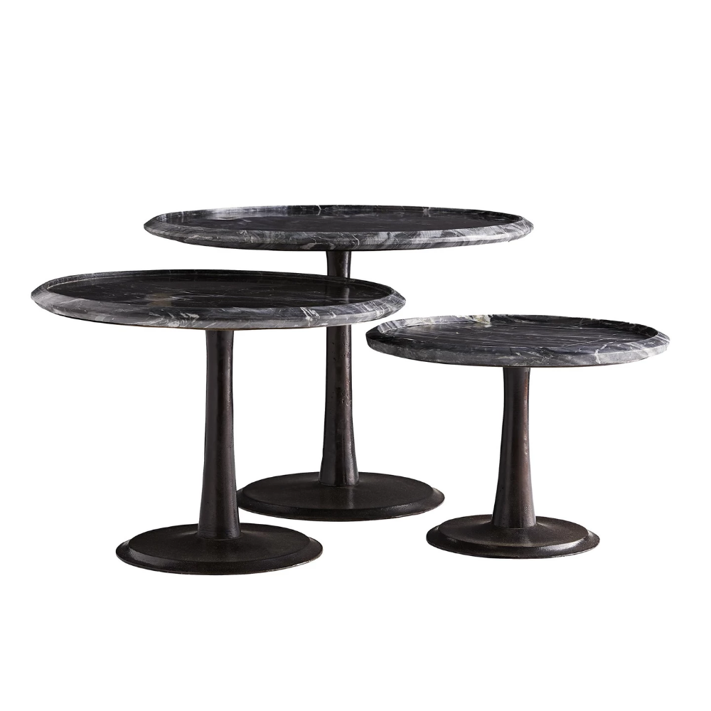 The Webber Accent Table From Arteriors Home Showcases Classic Elegance And Sophistication Shades Of Black Gray And Whi Accent Table Small Accent Tables Table