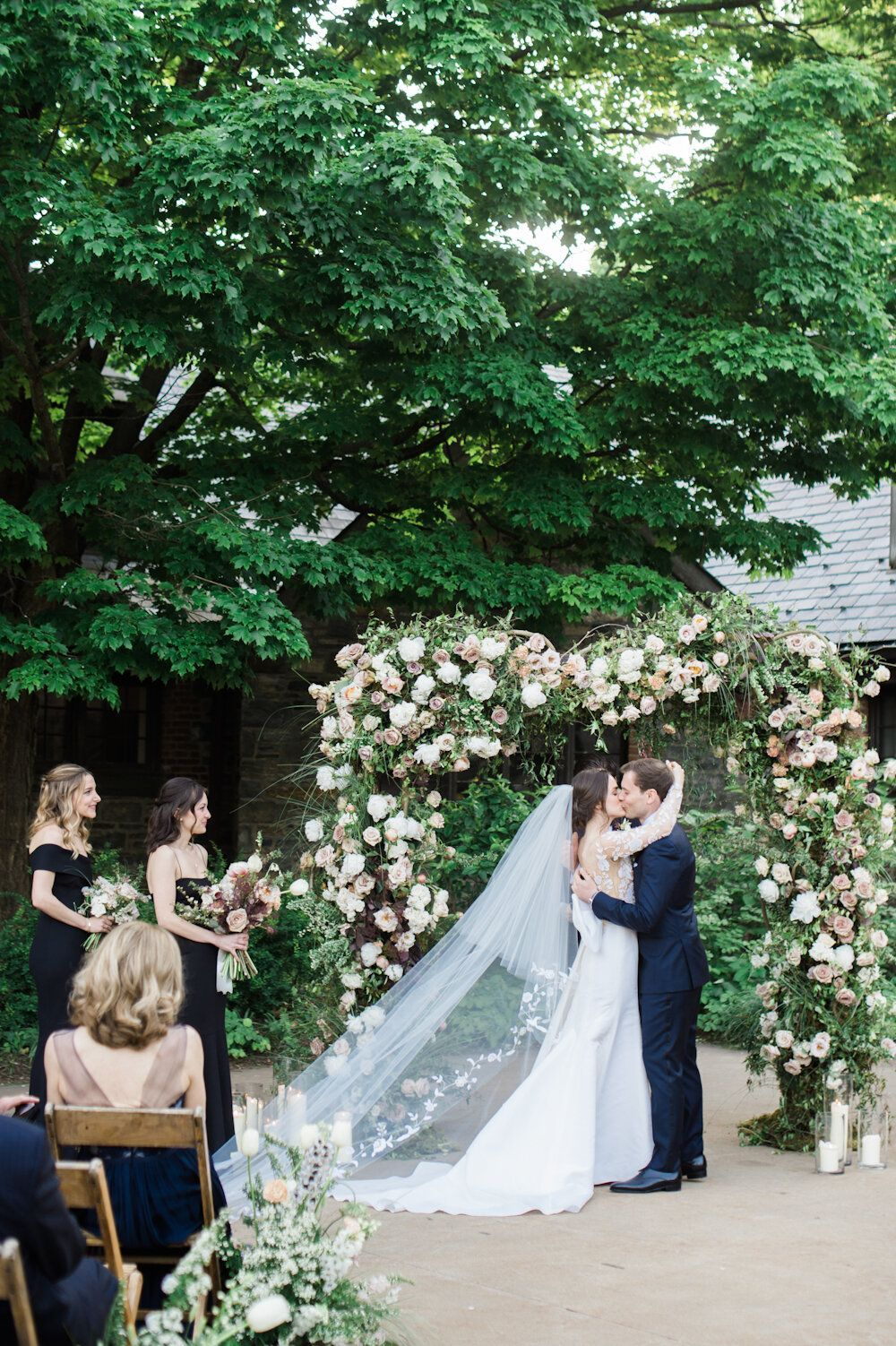 Blue Hill At Stone Barns Wedding Spring Ang Weddings And Events Blue Hill At Stone Barns Wedding Ceremony Outdoors In In 2020 Barn Wedding Stone Barns Spring Wedding