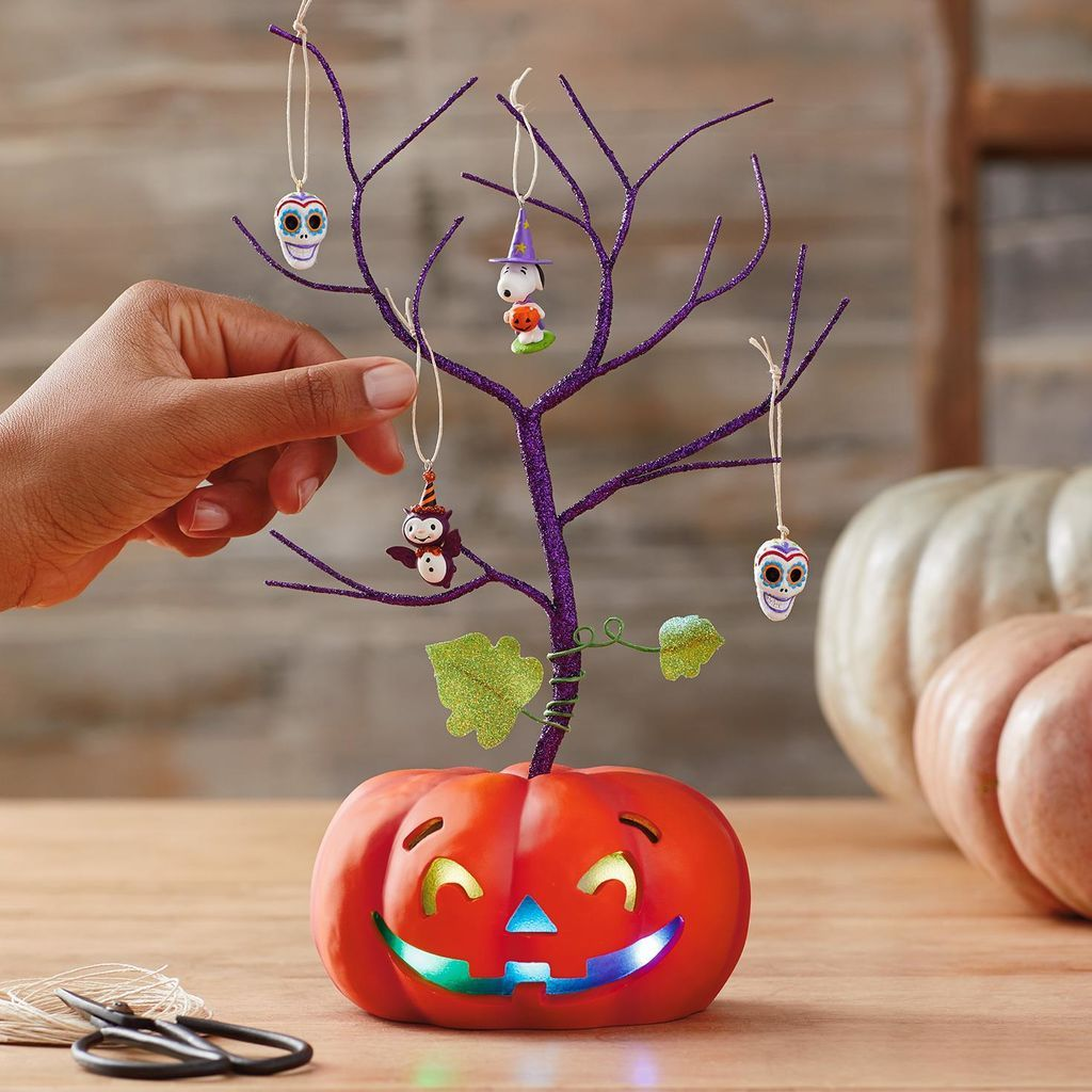Mini Halloween Ornament Tree With Light Halloween