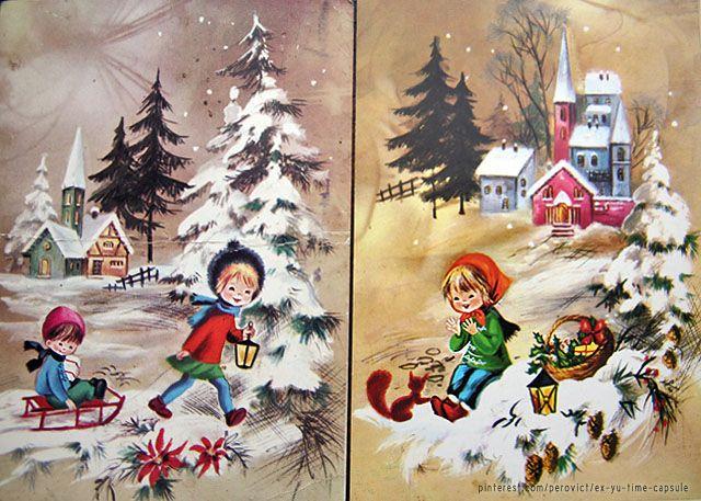 Madeline S Memories Vintage Christmas Cards: Новогодишње честитке из осамдесетих. Vintage Christmas