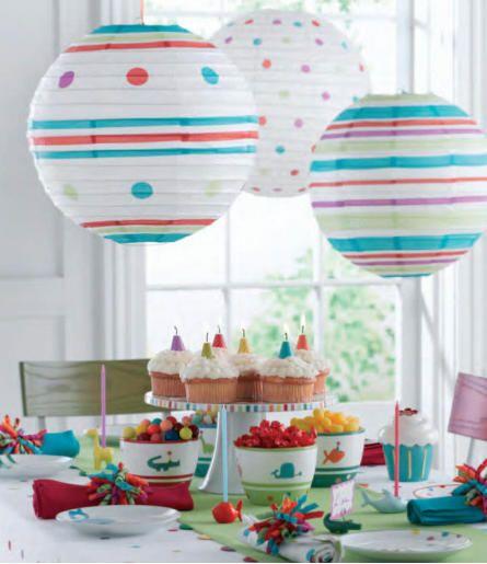 Sustituyendo los globos por decoraciones de papel decora for Papel de decoracion