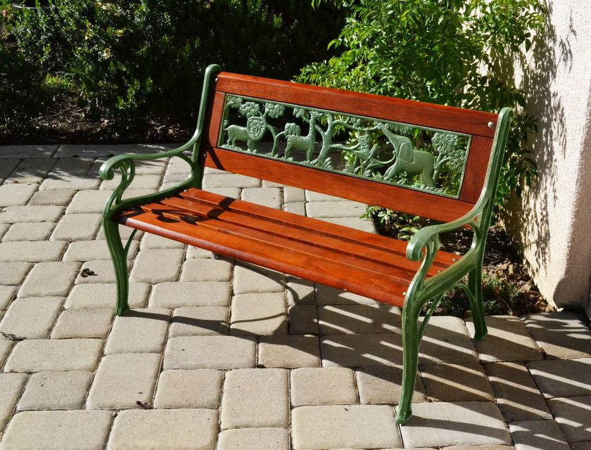 Cast Iron And Oak Garden Bench Children S Safari Bench