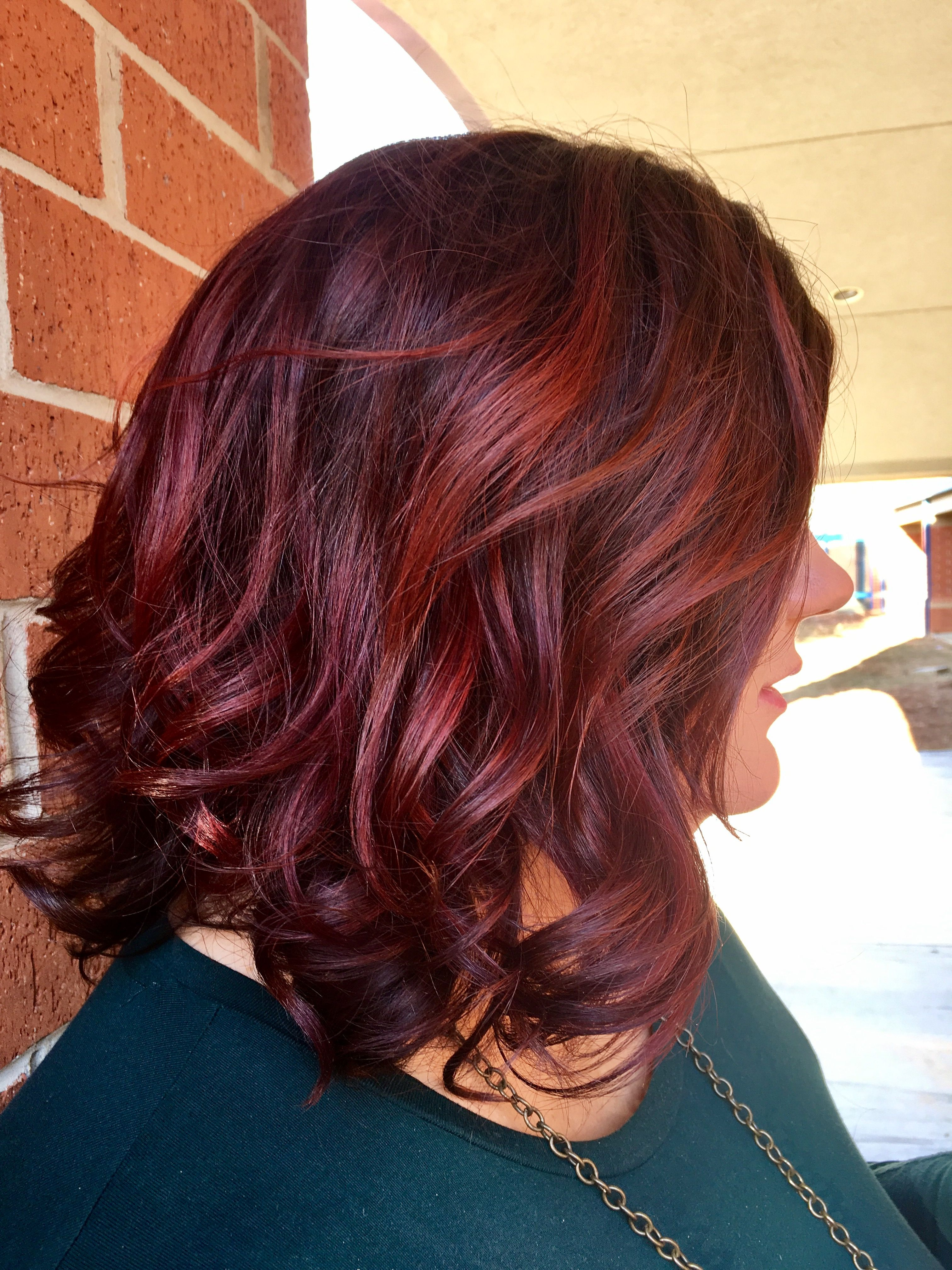 Fall Hair Cherry Red With Dark Roots Hair Now Pinterest Dark