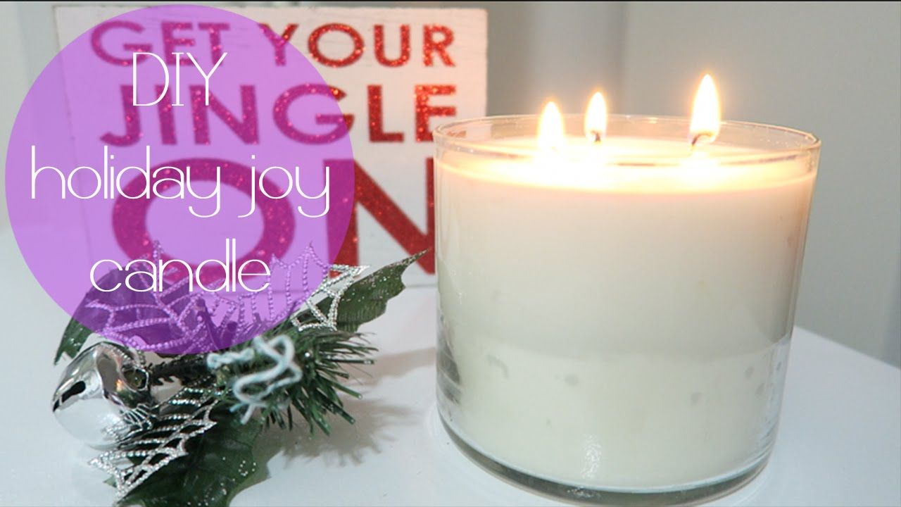 Easy DIY ESSENTIAL OIL SCENTED CANDLE! YouTube Diy soy