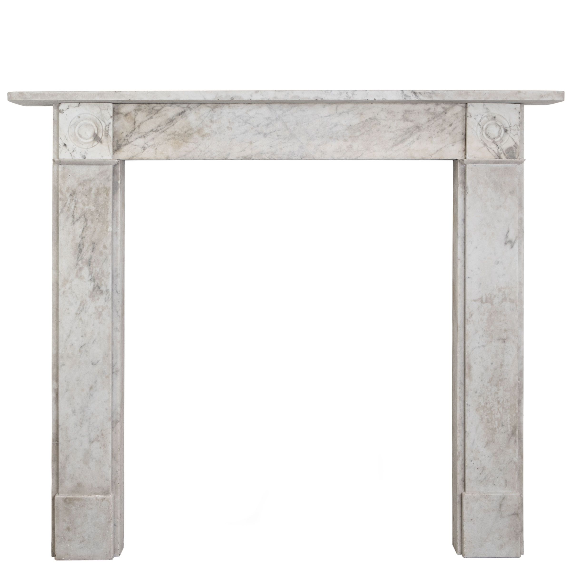 antique georgian carrara bullseye fireplace fire surround