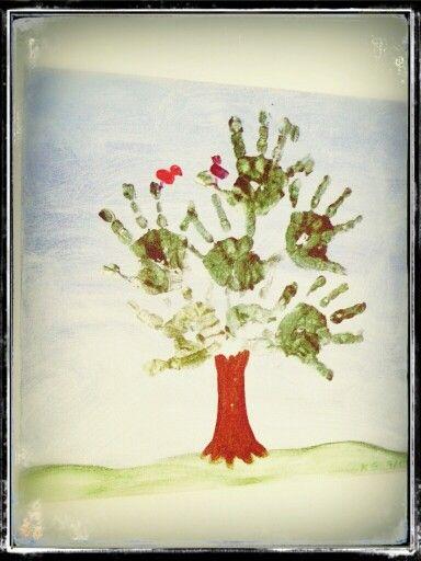 Handabdruck Baum | Basteln | Pinterest | Handabdruck, Baum und ...