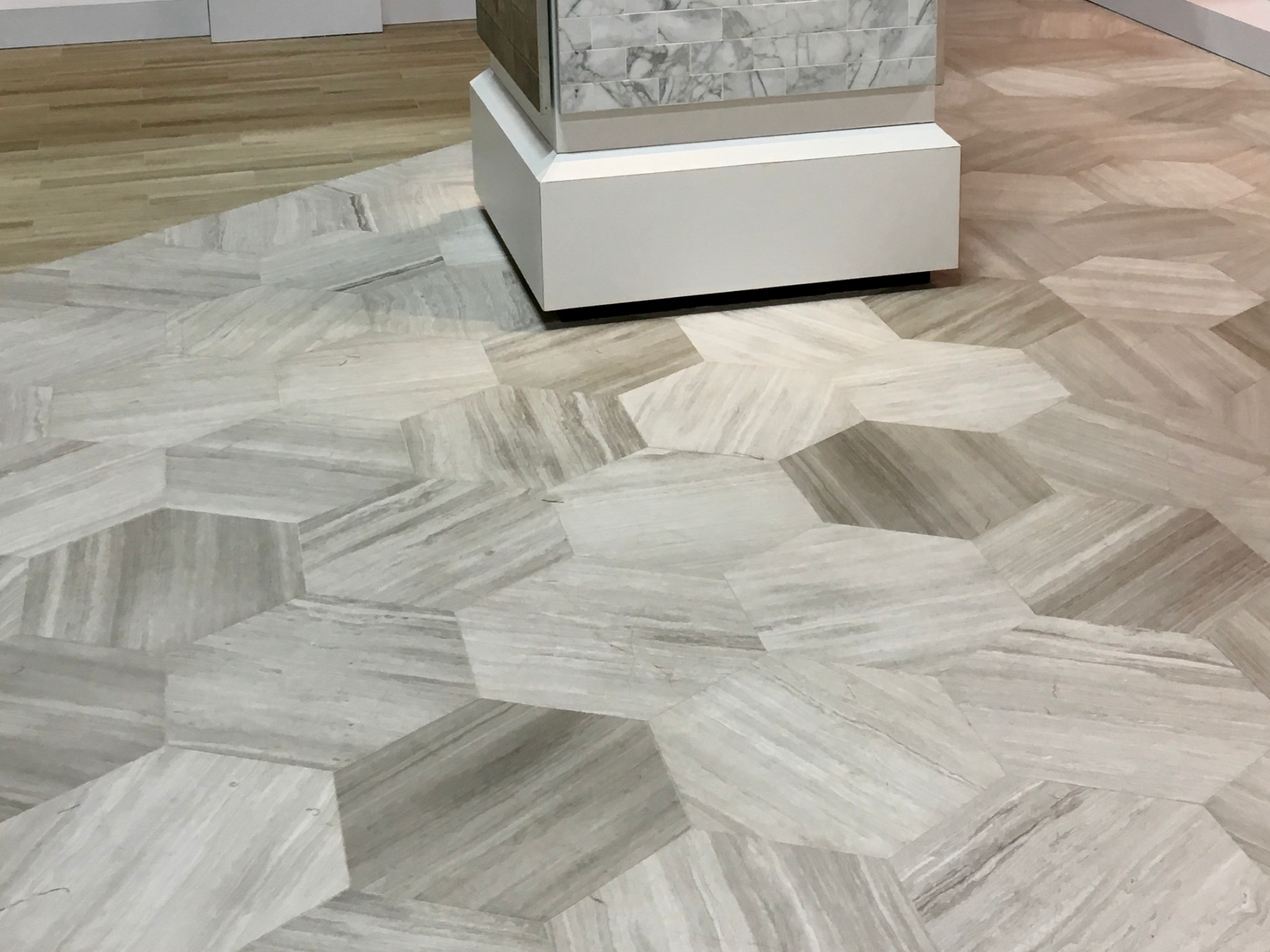 Large hex floor tile daltile 18x20x12 chenille white honed large hex floor tile daltile 18x20x12 chenille white doublecrazyfo Choice Image