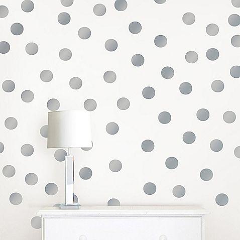 Wallpops Metallic Silver Confetti Dots Wall Decals Baby Wall