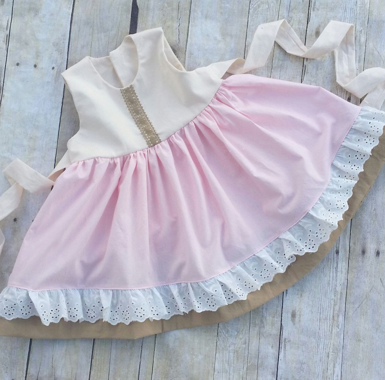 Baby Girl Pink Easter dress Toddler Spring Dress Girls Twirl