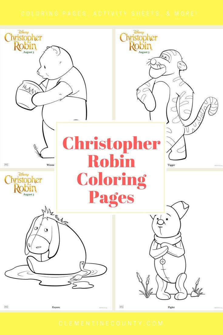 Christopher Robin Coloring Pages   Clementine County   ! A+ Pins ...
