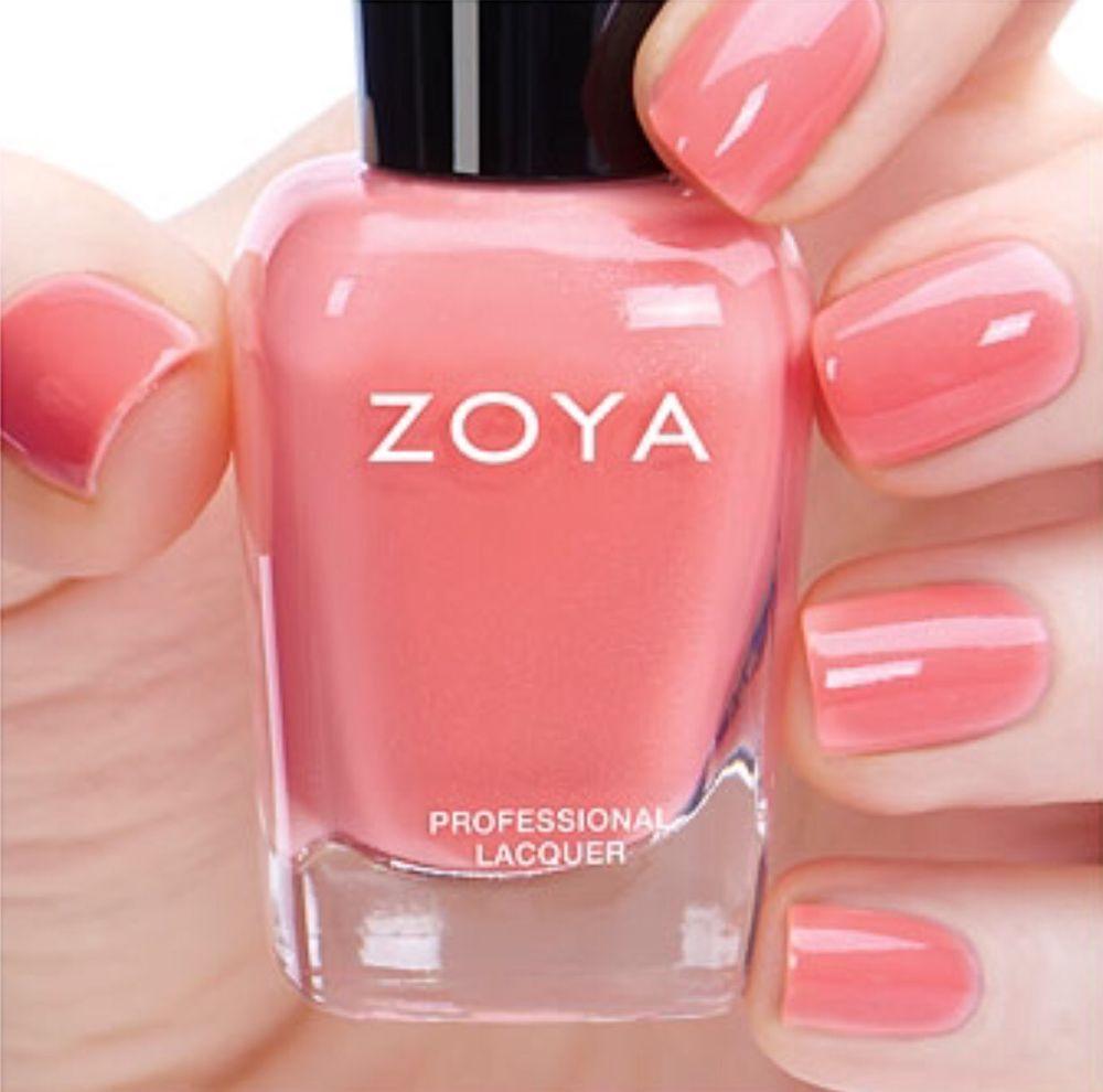 ZOYA ZP839 TULIP pastel salmon cream nail polish ~ PETALS Collection ...