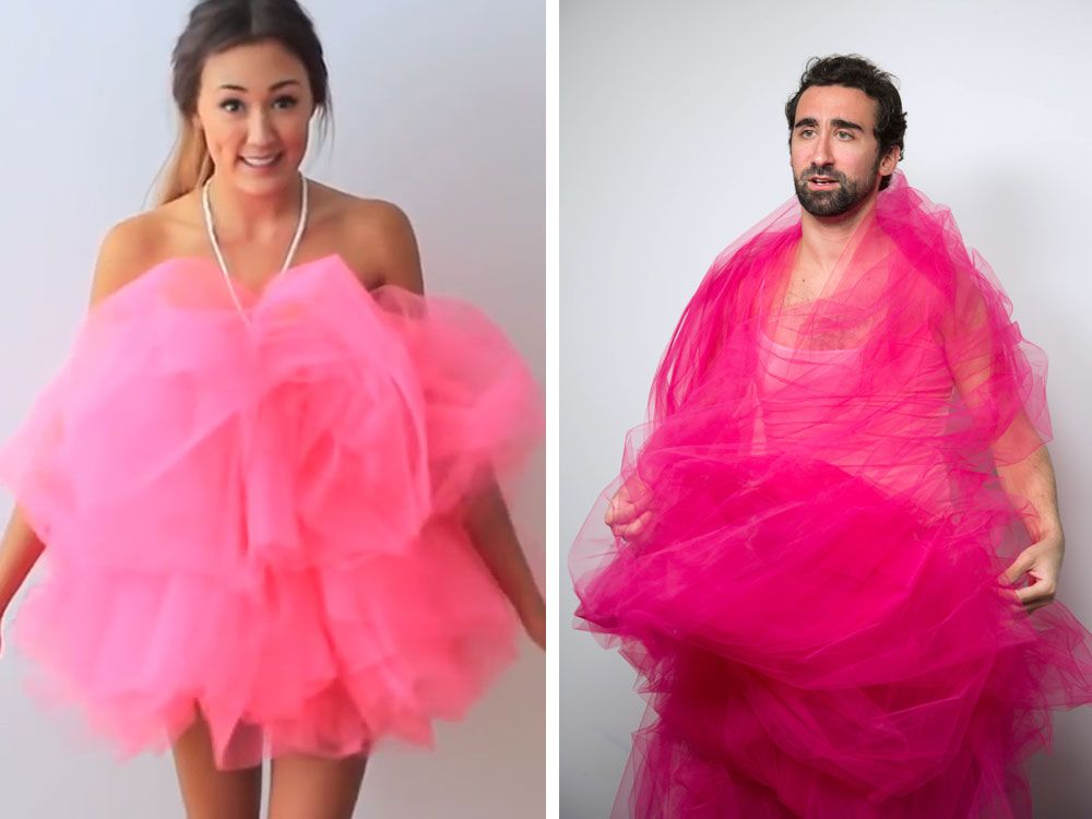 Heres what happens when a guy tries to diy pinterest halloween giant loofa cosmo writer frank kobola attempted to create this trending diy halloween costume and solutioingenieria Image collections