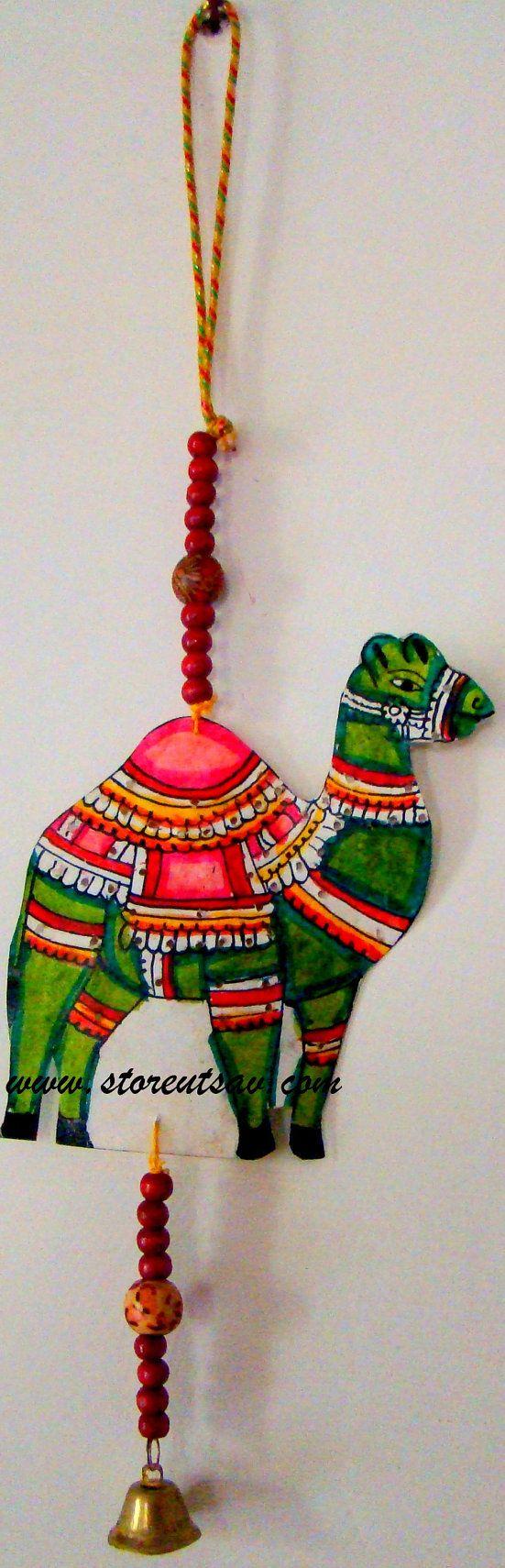 Door Hanging Ganesha Leather Painting Tholubommalata Home Decor