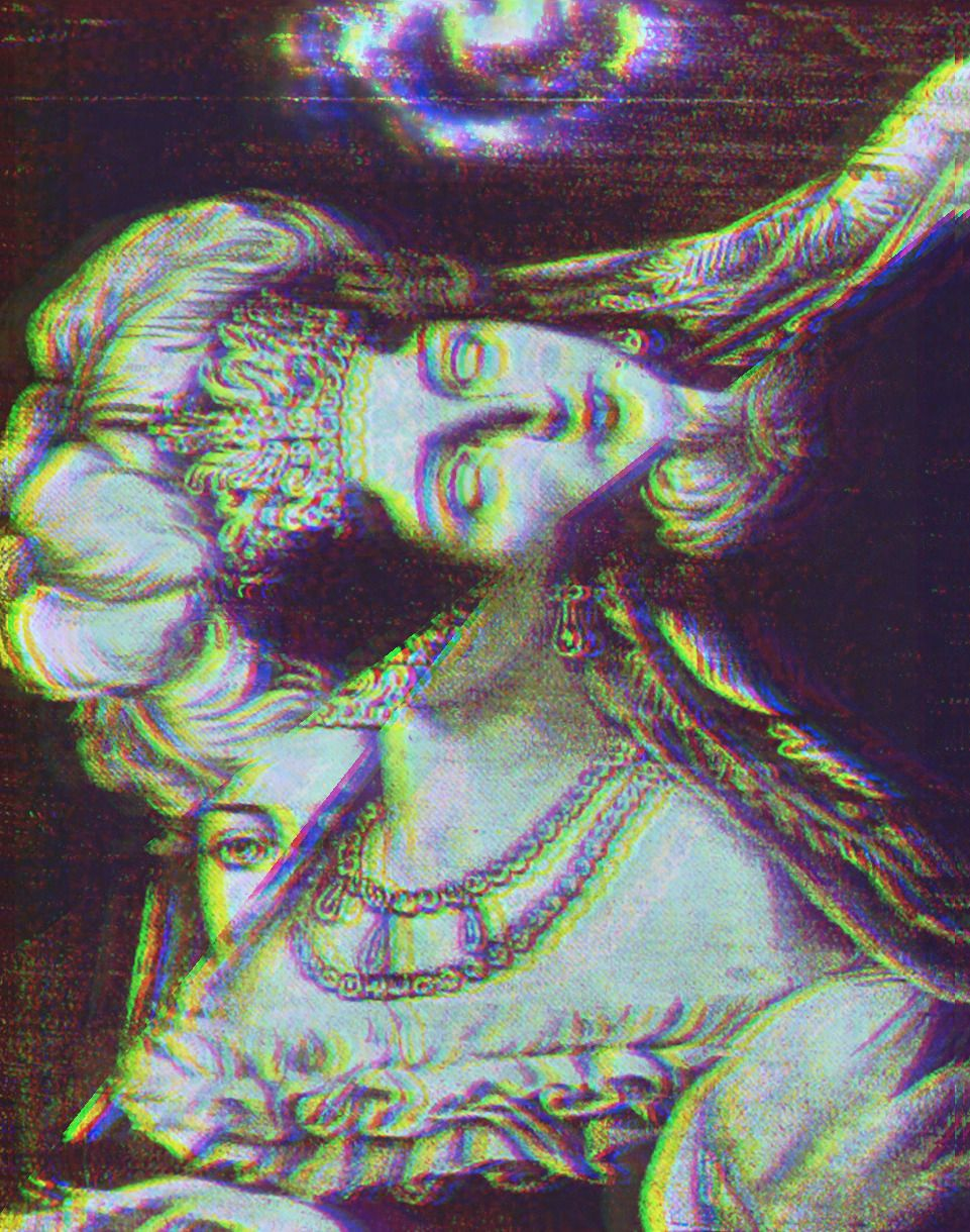 This gif has everything glitch pixel art graphic design vaporwave - Chocloasesino Photo Vaporwave Artglitch