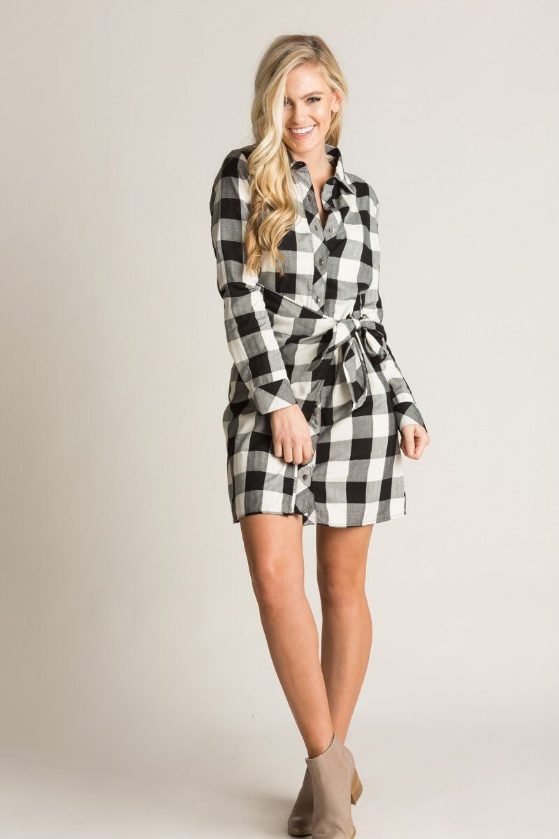 Vanna Black And White Plaid Dress Morning Lavender Plaid Shirt Dress Outfit Plaid Dress Plaid Dress Shirt