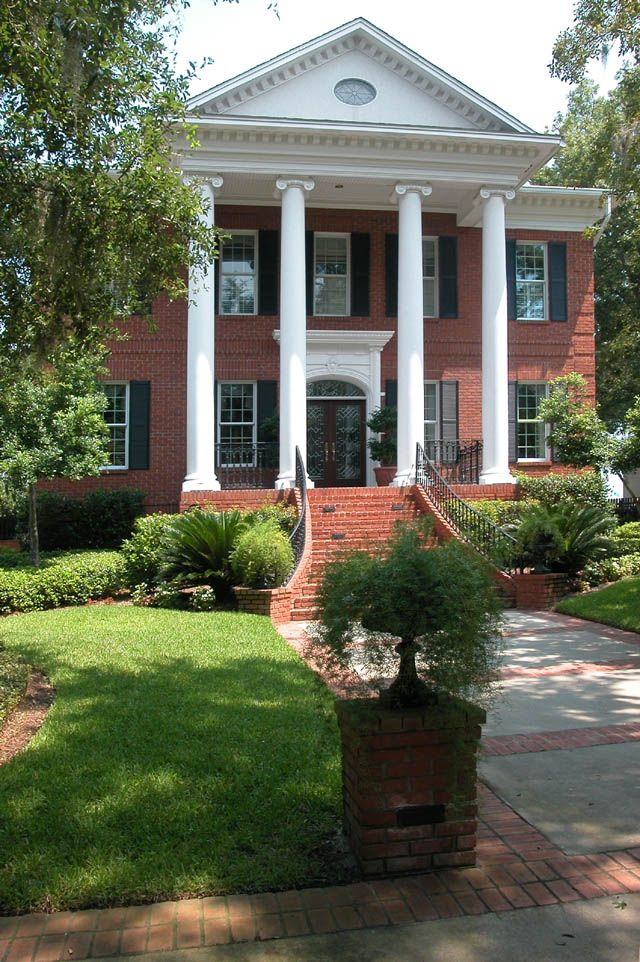 Brick Columns For Formal Home Entry Google Search