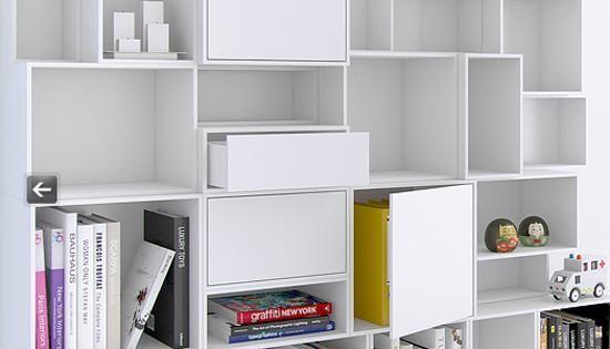 modular shelving systems adding fun and color to modern storage rh pinterest com Modern Shelving Systems Modern Wall Shelving Systems