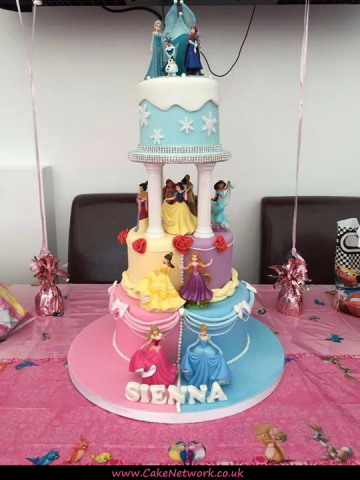 A Disney Princess Cake to suit everyone What a Cake on Cake