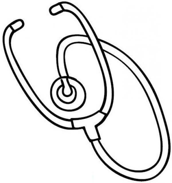Medical Equipment Stethoscope Coloring Page Coloring Sky Coloring Pages Free Coloring Pictures Color