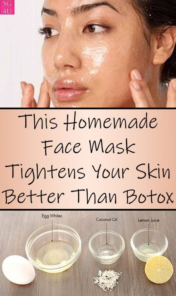 This Homemade Face Mask Tightens Your Skin Better Than Botox - She Made by Grace -   15 skin care Masks remedies ideas