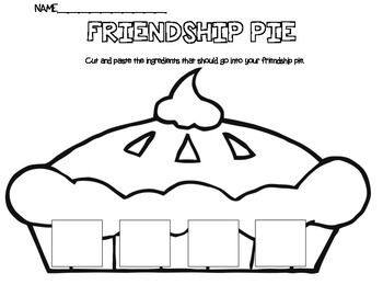 Friendship Pie- Enemy Pie | School Counselor Material & Lessons