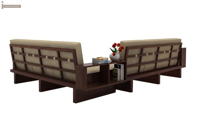 Buy Audrey 6 Seater L Shape Corner Sofa Set Walnut Finish Online In India Wooden Street Corner Sofa Set Sofa Set Wooden Sofa Set
