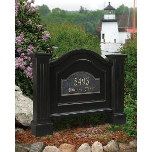 Mayne Nantucket Black Address Sign Living Space Ideas Pinterest Awesome Decorative Address Yard Signs