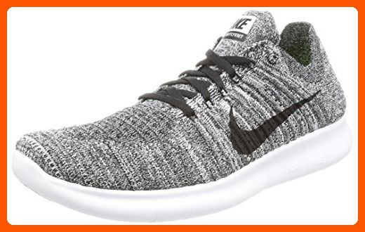 56ef7e11ccf3 Nike Men s Free Rn Flyknit White Black Running Shoe 9.5 Men US - Our  favorite sneakers ( Amazon Partner-Link)