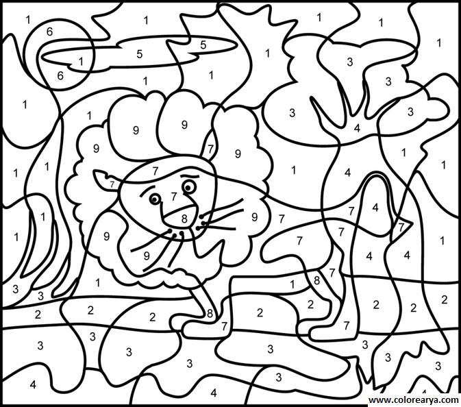 ≧◡≦) Colorear por numeros | Mirna | Pinterest