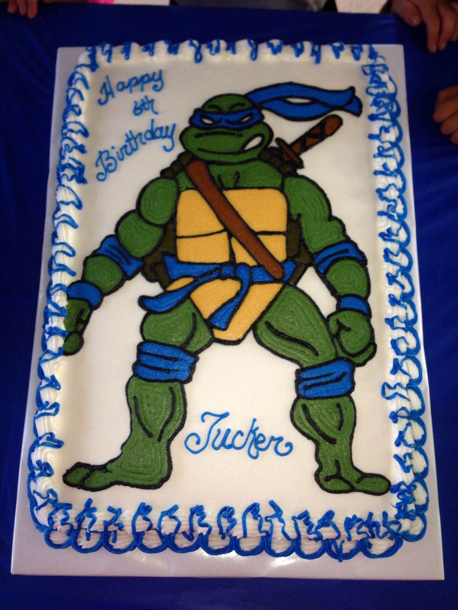 Tmnt Leonardo Birthday Cake Tmnt Birthday Party Pinterest Tmnt