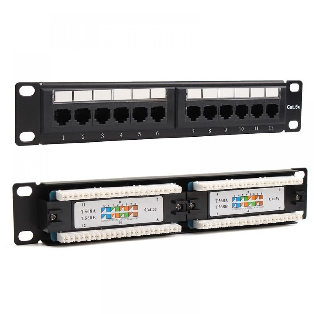 Utp Ethernet Lan Network Adapter Cat6 Cat5e 12 Port Rj45 Patch Panel Rack Cable Wall Mounted Bracket Connector Rack Tool I Www K Gadgets Com Patch Panel Wall Mount Bracket Rj45