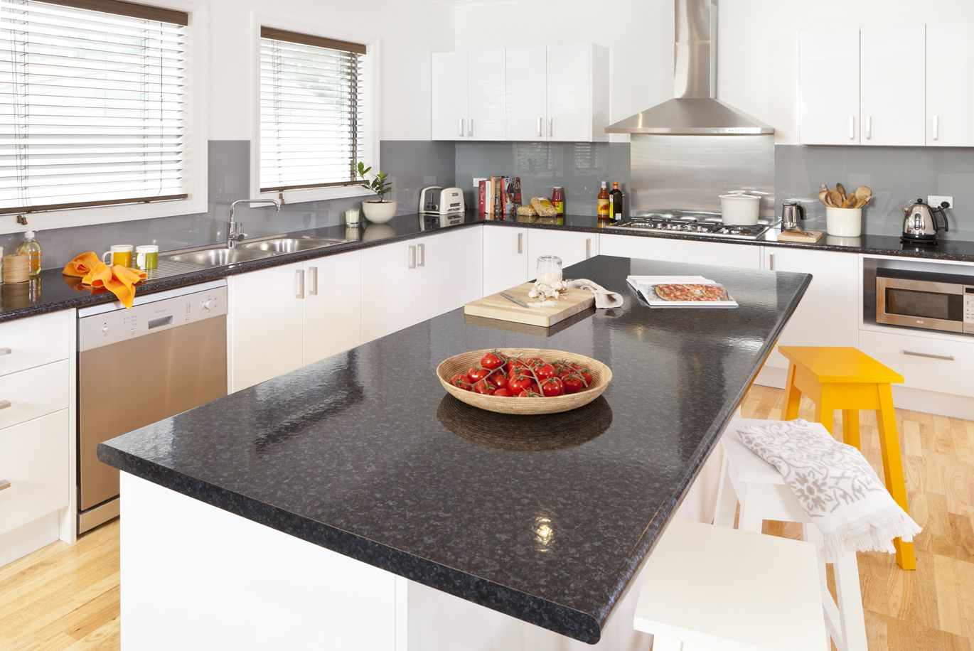 Granite Kitchen Benchtops Black Granite Laminate Island Benchtop Visit Kaboodlecomau For