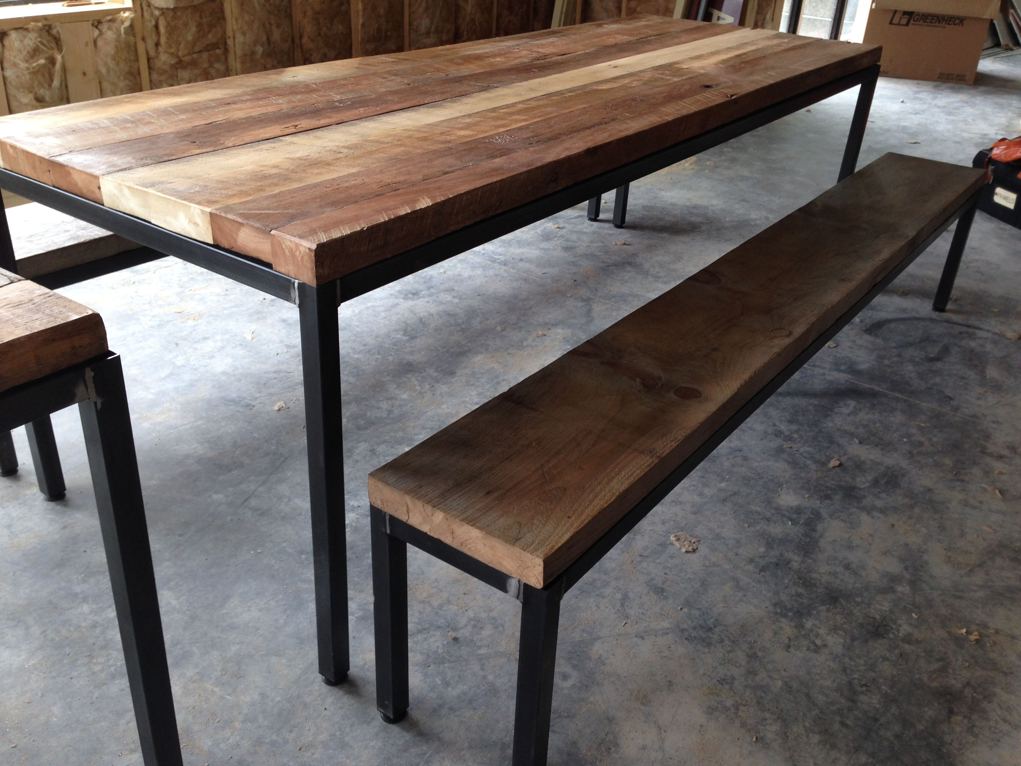 Communal Dining Table And Benches Www Phweld Com Table