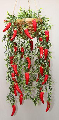 CHILI PEPPER VINE swag garland kitchen restaurant | Flower ...
