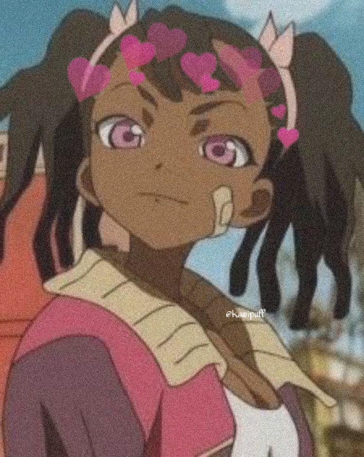 anime kawaii animeicons in 2020 Black anime