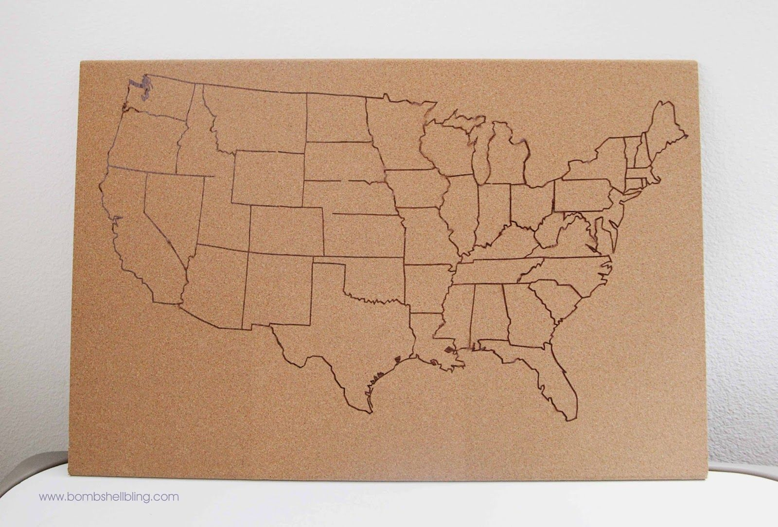 Us Map On Cork Board.Usa Cork Board Map Crafty Cork Board Map Diy Cork Board Cork