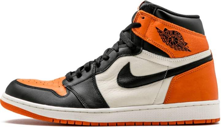 the cheapest performance sportswear dirt cheap Air Jordan 1 Retro High OG Black/Starfish 'Shattered ...