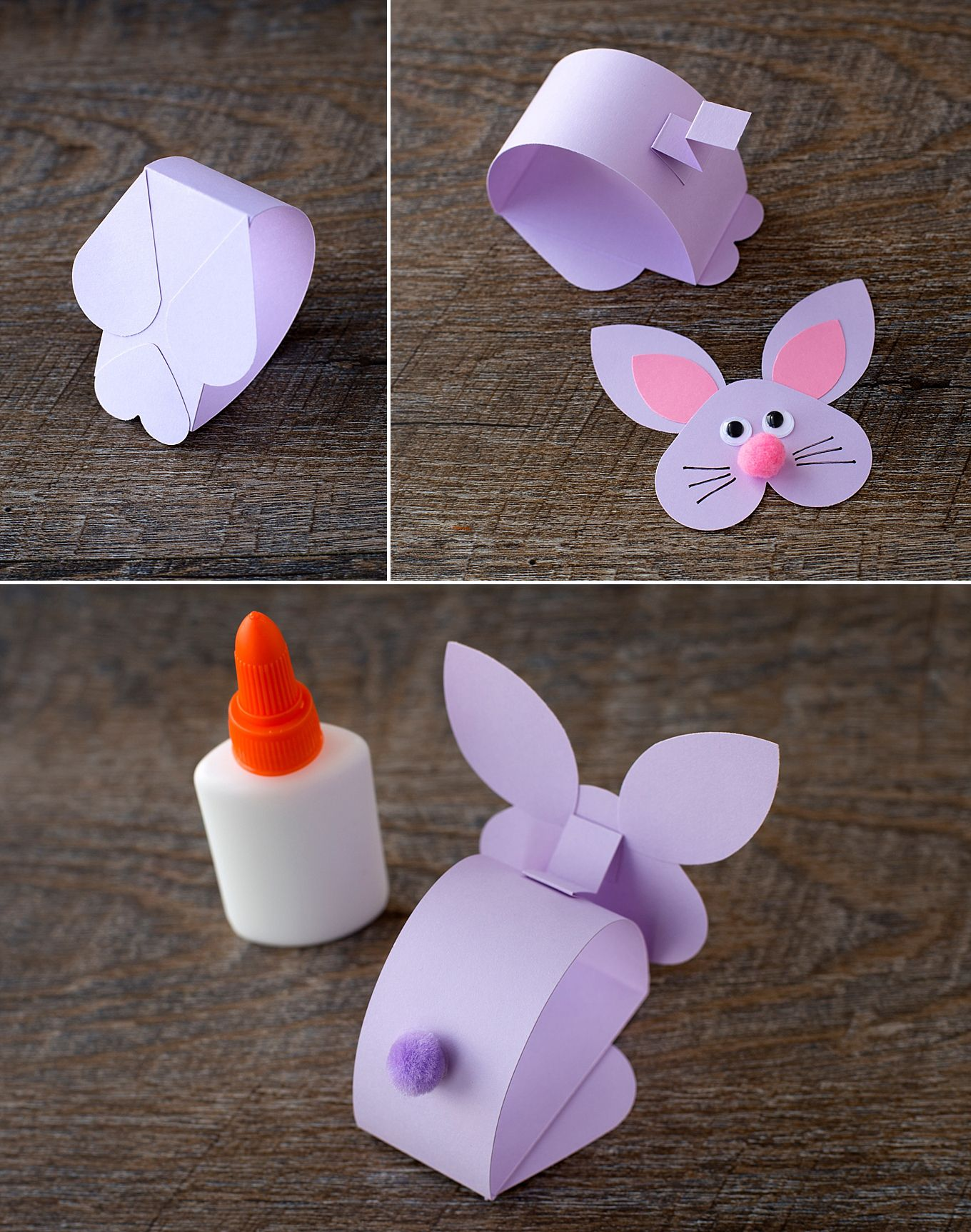 Paper Bobble Head Bunny Craft for Kids #parenting