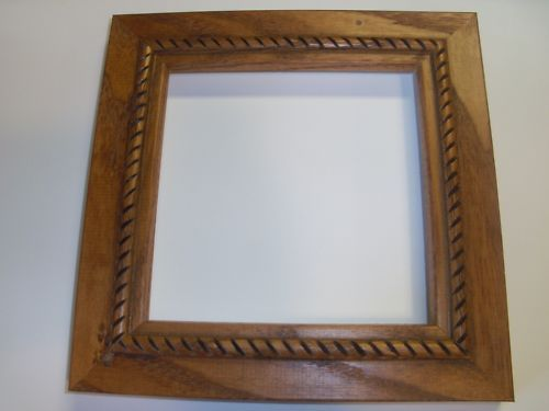 Small Rope Country Honey Solid Oak Picture Frame-Stand | Oak picture ...