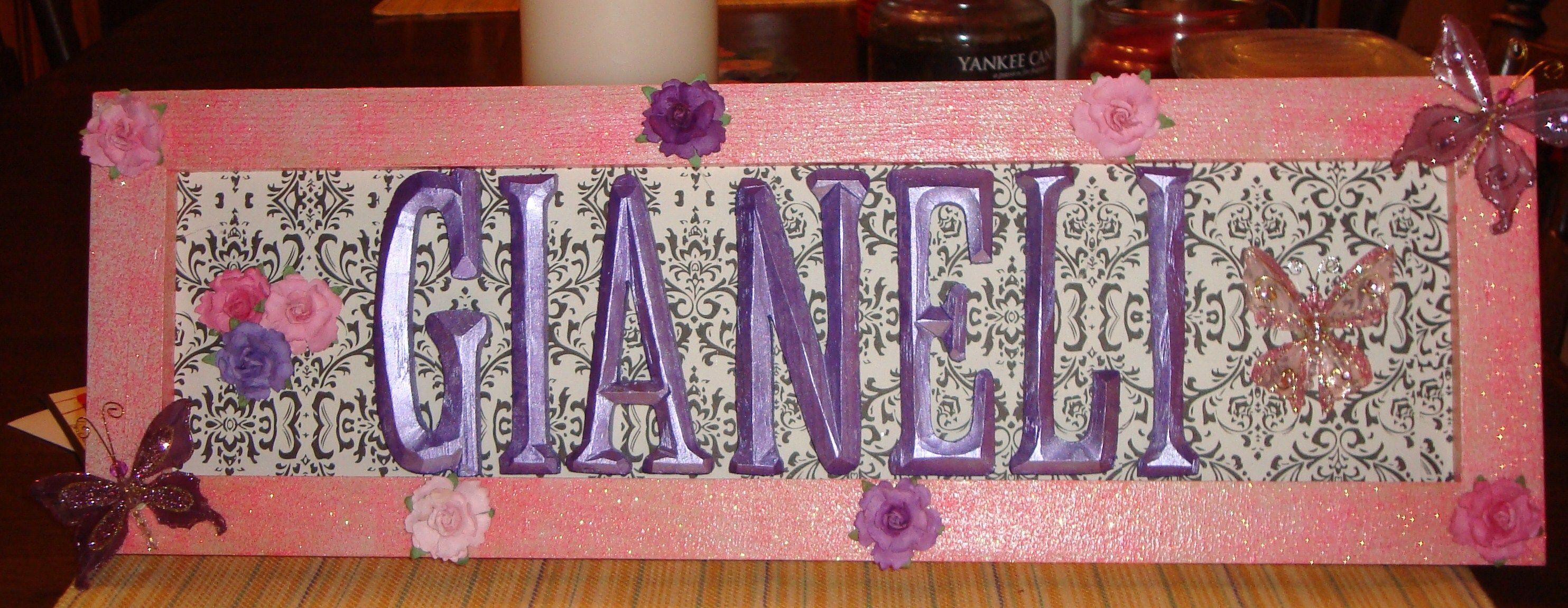 name frame | craftiness | Pinterest | Name frame, Frames and Names